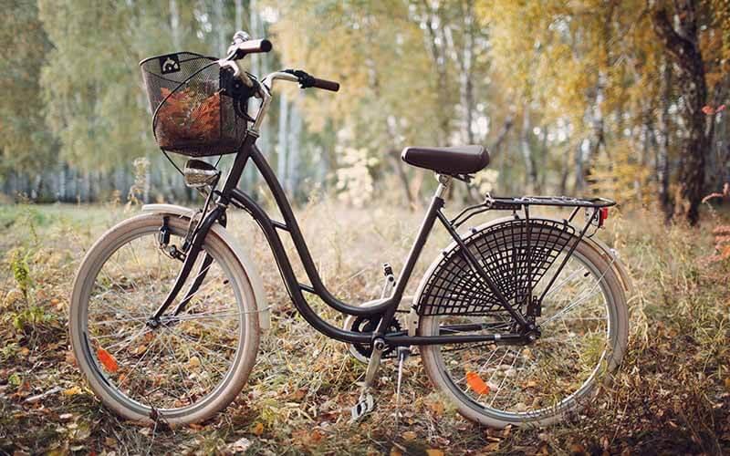 košík na bicykel